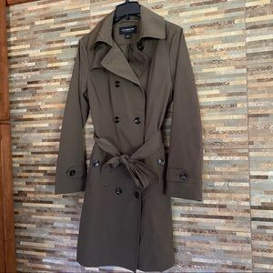 Liz Claiborne Trench Chocolate Brown Medium